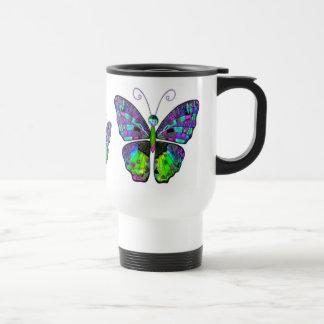 Blue Green Butterfly mug