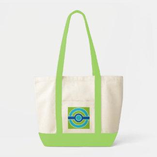 Blue / Green circles bag, custom Tote Bag