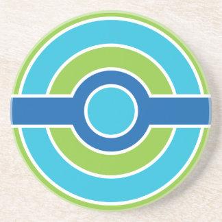 Blue / Green circles coaster, customizable Coaster