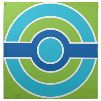 Blue / Green Circles custom cloth towels