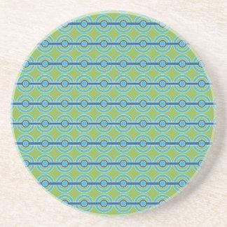 Blue / Green Circles custom coaster