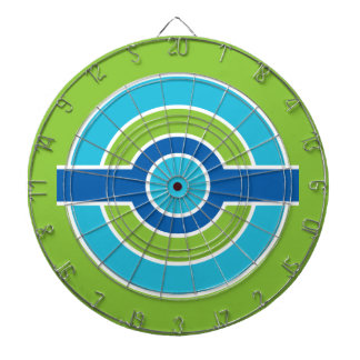 Blue / Green Circles custom dart board
