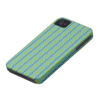 Blue / Green Circles custom iPhone case-mate