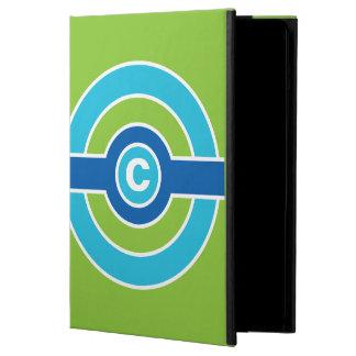 Blue / Green Circles custom monogram cases
