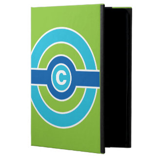 Blue / Green Circles custom monogram cases iPad Air Case