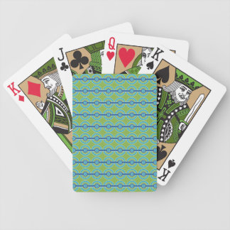 Blue / Green Circles custom playing cards