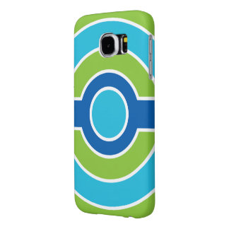 Blue / Green circles customizable cases