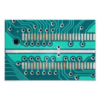 Blue Green Circuit Board - Electronics Photography Photograph