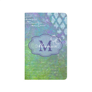 Blue Green Collage Monogram Journal