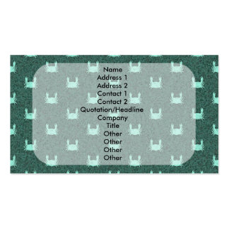 Blue Green Crab Pattern Pack Of Standard Business Cards