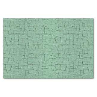 Blue-green crackle paint tissue paper