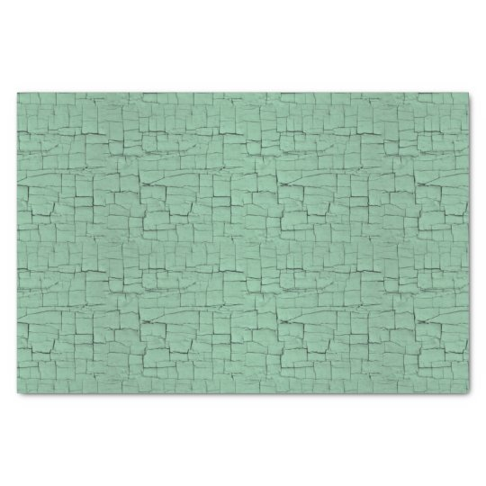 Blue-green crackle paint tissue paper