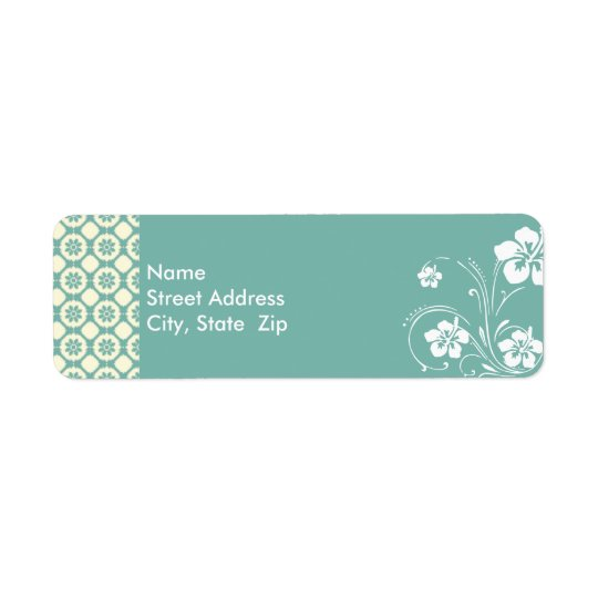 Blue-Green & Cream Floral; Aloha