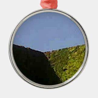 Blue green cube christmas ornament