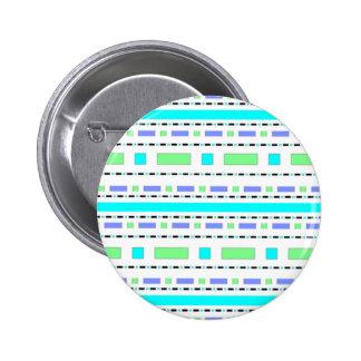 Blue Green Dash 6 Cm Round Badge