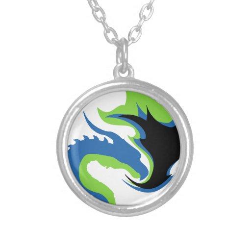 Blue Green Dragon Custom Necklace