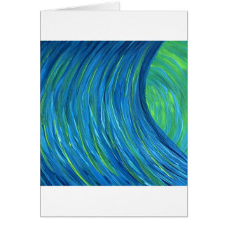 Blue Green falls Greeting Cards