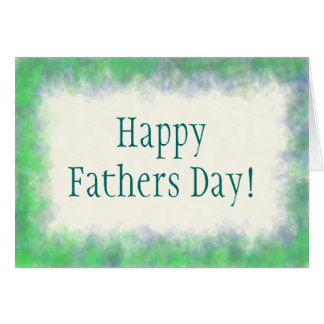 Blue Green Fathers Day Card