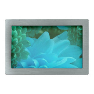 Blue/Green Floral Rectangular Belt Buckle