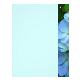 Blue Green Floral Themed Flyers paper Designer