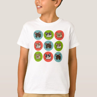 Blue Green Frenchie T-shirt
