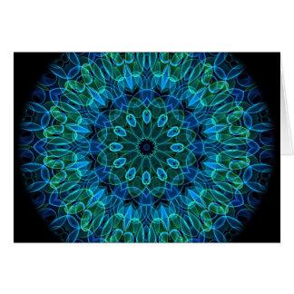 Blue Green Gems kaleidoscope Cards