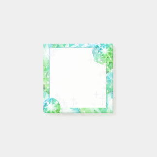 Blue Green Gemstone Compass Rhinestone Bling Look Post-it Notes