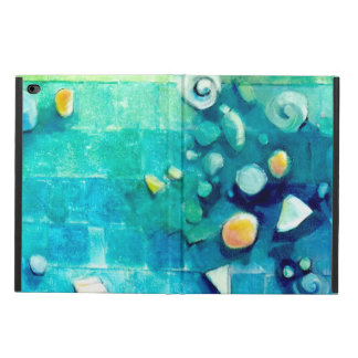 Blue Green Geometric Colorful Abstract Art Powis iPad Air 2 Case