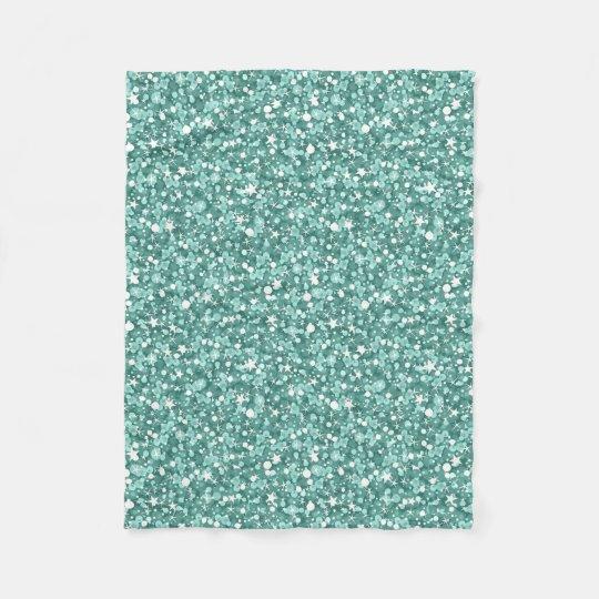 Blue- Green Glitter Fleece Blanket