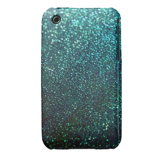 Blue/Green Glitter iPhone 3 Cover