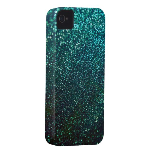 Blue/Green Glitter Print Sparkle iPhone Cover