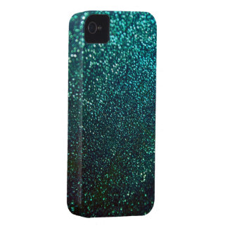Blue Green Glitter Print Sparkle iPhone Cover iPhone 4 Case