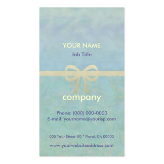 Blue Green Gold Ribbon Giftwrap Pack Of Standard Business Cards