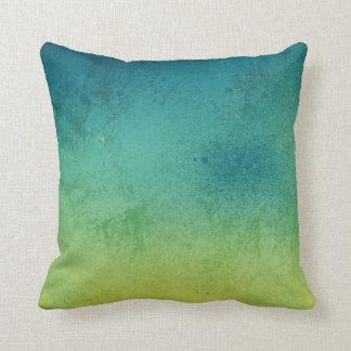 Blue & Green Gradient Throw Pillow Throw Cushions