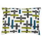 Blue, Green & Grey Abstract Pet Bed