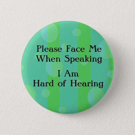 Blue Green Hard of Hearing Button