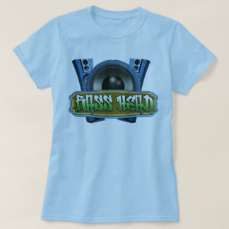 Blue green Hip Hop Music Street wear T-Shirt
