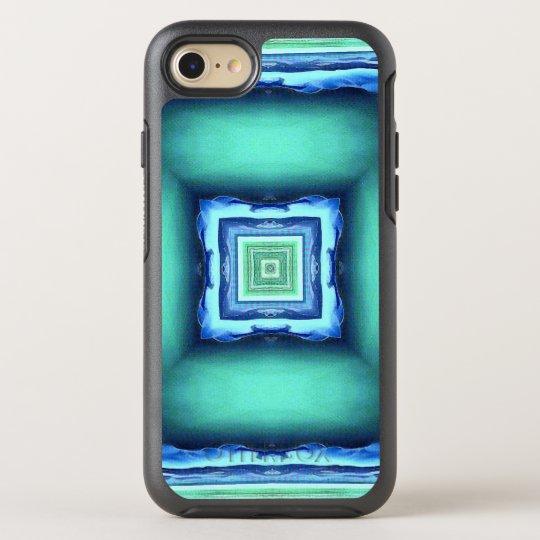 Blue Green Illusional Depth Pattern OtterBox Symmetry iPhone 8/7 Case