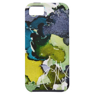 Blue Green Ink iPhone 5 Covers