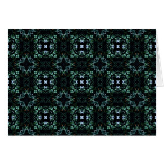 Blue Green Kaleidoscope 1 Greeting Card