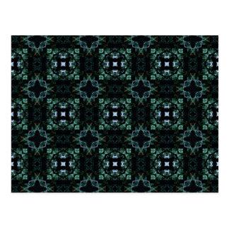 Blue Green Kaleidoscope 1 Postcard