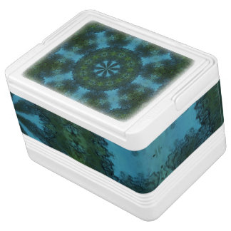 Blue-Green Kaleidoscope Igloo 12 Can Cooler Igloo Cool Box
