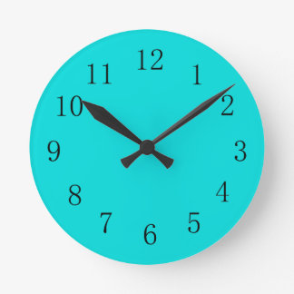 Blue Green Kitchen Wall Clock