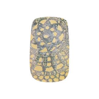 Blue/Green Lace Nails Minx Nail Art