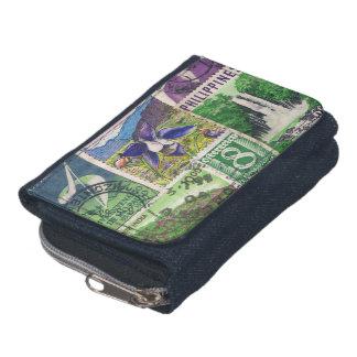 Blue Green Landscape Wallet 2, Postage Stamp Purse