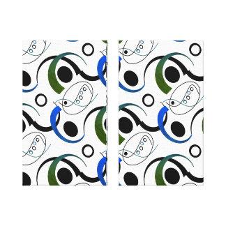 Blue&Green Leaf Canvas Print