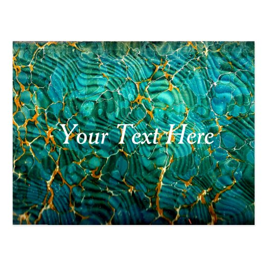 Blue Green Marble Abstract Postcard | Customise