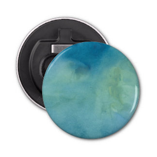 Blue & Green Marble Watercolour Bottle Opener