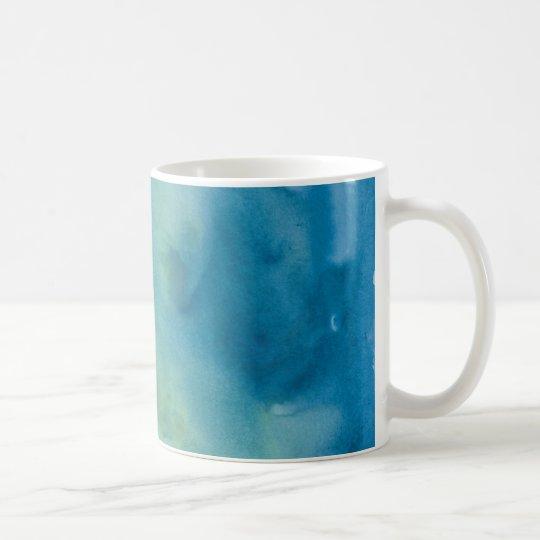 Blue & Green Marble Watercolour Coffee Mug