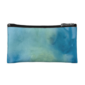 Blue & Green Marble Watercolour Cosmetic Bag